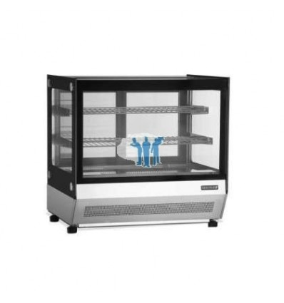 Vitrina refrigerada sobremostrador Cristal Recto 700X560X670