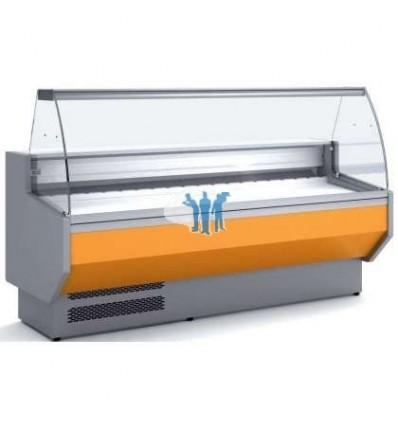 Vitrina Refrigerada Cristal Curvo Fondo 800 dim.2995x800x1235
