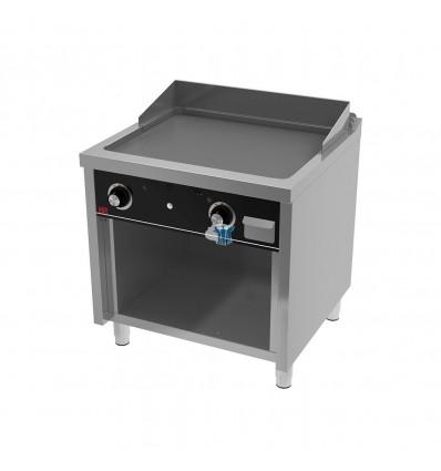 Fry-top a gas 800 rectif estante 80x75x95.