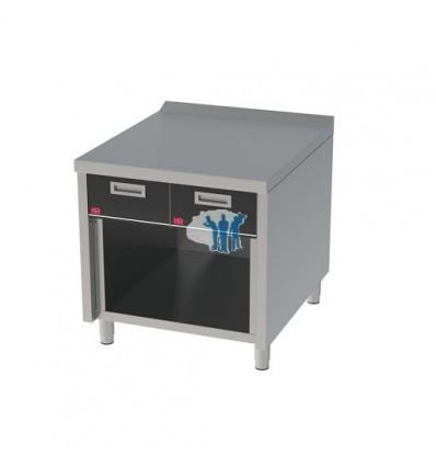 Mueble neutro 800 estante c/cajón 80x93x87.