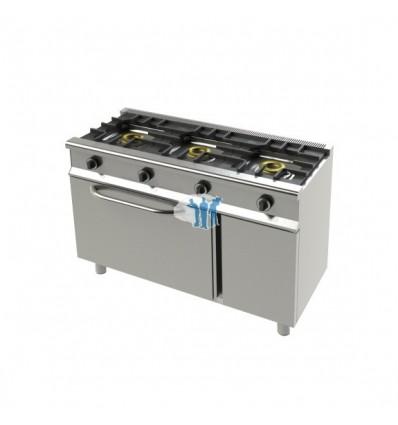 Cocina a gas 3 fuegos con horno